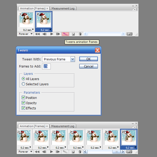 24 Tạo Người Tuyết và Bông Tuyết Lấp Lánh trong Photoshop