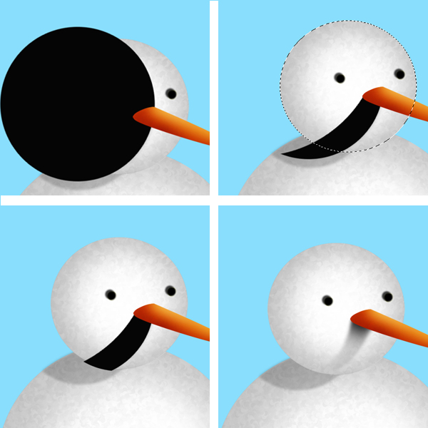 8 Tạo Người Tuyết và Bông Tuyết Lấp Lánh trong Photoshop