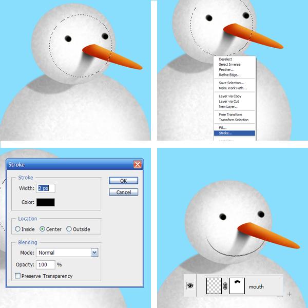 9 Tạo Người Tuyết và Bông Tuyết Lấp Lánh trong Photoshop