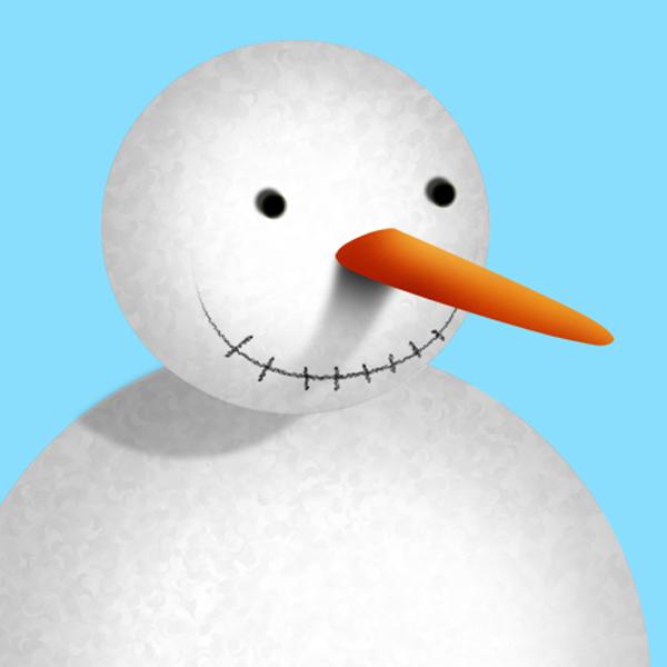 9a Tạo Người Tuyết và Bông Tuyết Lấp Lánh trong Photoshop