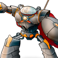 Color a Medieval Robot Character Illustration