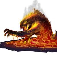 Create a Lava Monster Concept Painting