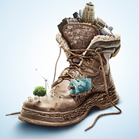 Create an Eye-Catching Eco-Friendly Shoe Advertisement – Psd Premium Tutorial