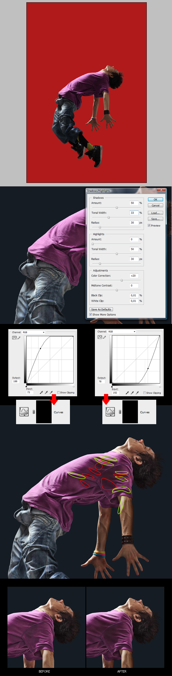 how to stop images clipping around photoshop