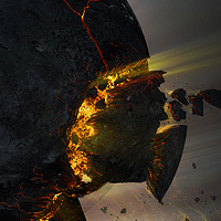 Create an Exploding Moon Orbiting a Gas Giant in Photoshop &#8211; Psd Premium Tutorial