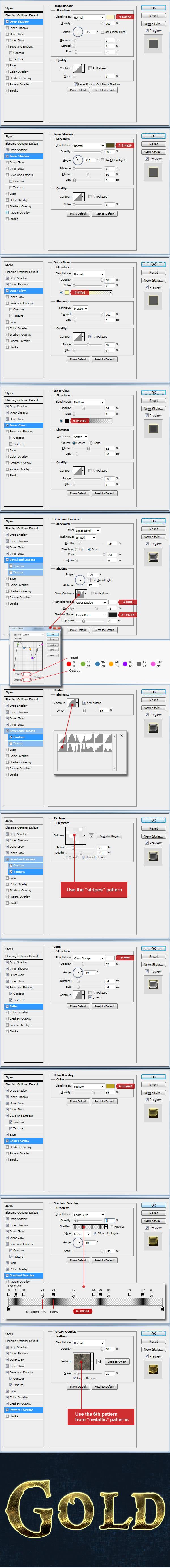 gold text effect layer 1 Tạo Hiệu Ứng Chữ Vàng Bóng, Cổ trong Photoshop