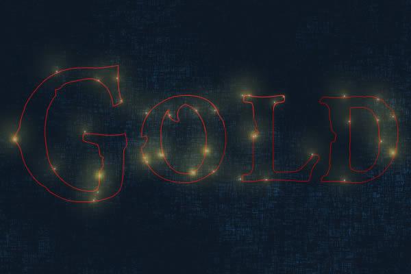 6 Tạo Hiệu Ứng Chữ Vàng Bóng, Cổ trong Photoshop