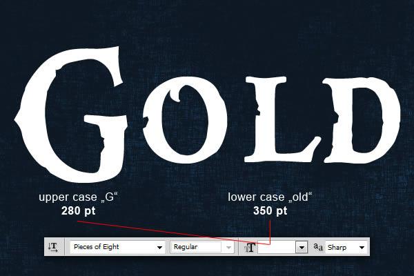 gold text Tạo Hiệu Ứng Chữ Vàng Bóng, Cổ trong Photoshop