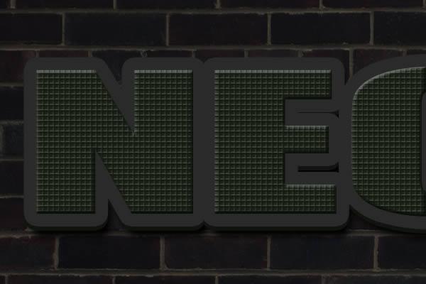 [Photoshop] Neon Text Effect 3d