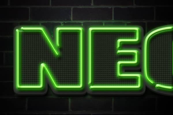 [Photoshop] Neon Text Effect Neon-Erase