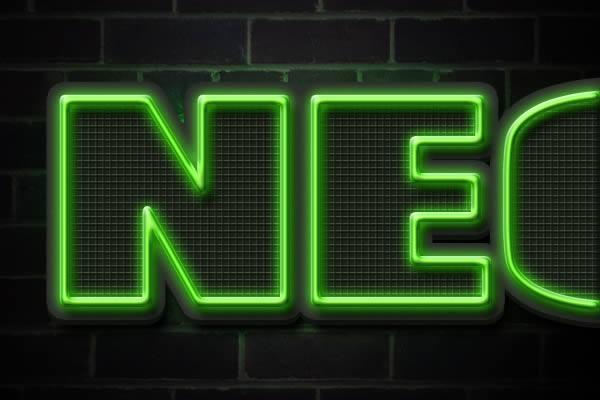 [Photoshop] Neon Text Effect Neon-Style