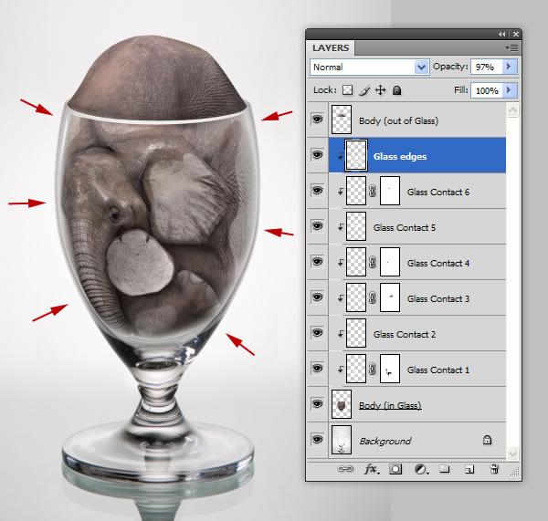 elephant 40 Tạo Một Ly Kem Hình Chú Voi trong Photoshop